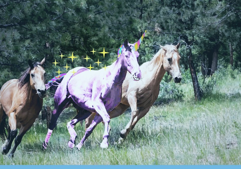 Be a unicorn in a herd of horses! Stand out of the crowd